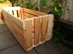 Make a patio planter from IKEA bed slats