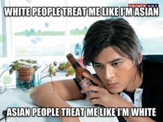 original pin caption: forever's a long time, dean — theysayilostmymind: Half Asian problems. Funny Asian Memes, Asian Jokes, Asian Humor, Funny Jokes, Funny Shit, Funny Stuff, Asian Problems, Filipino Funny, Filipino Memes