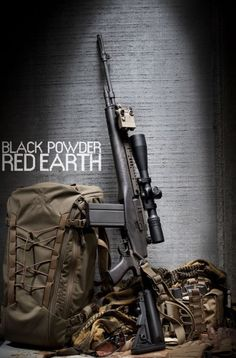 """blackpowderredearth: """" Cold Harbor DMR Rifle with Arc'teryx LEAF Khard 40 Pack and Cold Harbor DMRCR. The Cold Cold Harbor DMR is built on the Springfield Armory with a Vltor Socom Modstock. Weapons Guns, Guns And Ammo, Springfield M1a, Battle Rifle, Cool Guns, Tactical Gear, Tactical Firearms, Arsenal, Airsoft"""