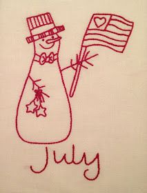 Starwood Quilter: July Redwork Snowman Plus Christmas in July Bonus