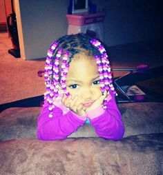Cutie with braids and beads