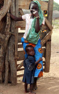 African Village Siblings in northern Ghana by Alan1954, via flickr