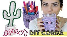 3 DIYs usando CORDA (muito fáceis!) #2 | Paula Stephânia