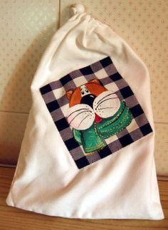 Natale country painting - gatto con la sciarpa