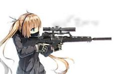 anime girls with guns - Bing images