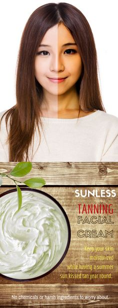 Keep your skin moisturized while having a summer sun kissed tan year round. Diy Beauty, Beauty Hacks, Beauty Tips, Beauty Products, Palmarosa Essential Oil, Essential Oils, Tanning Cream, Contour Brush, Facial Cream
