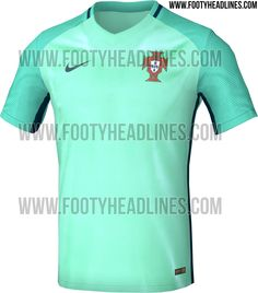 9eca8590d1e The new Portugal Euro 2016 Away Jersey features a very fresh design.