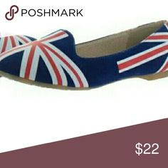 JUST ARRIVED: Chelsea Crew Georgie Adele Flats NIB These are really cute! Trendy slip on flats with British Flag design. Medium width.  PRICE FIRM  If I had one in a size 9, I would have been tempted to keep a pair for myself! ?? Chelsea Crew Georgie Adele Shoes Flats & Loafers