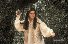 """In the Jim Henson movie """"Labyrinth,"""" Jennifer Connelly (Sarah) is whisked away… Sarah Labyrinth, Bowie Labyrinth, Labyrinth Movie, Jennifer Connelly Movies, Jennifer Connelly Young, Dennis Lee, Requiem For A Dream, Terry Jones, Christina Rossetti"""