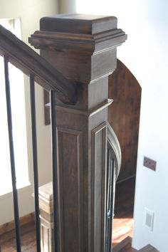 I want to change out the newel posts on my stair way to this style