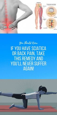 If You Have Sciatica or Back Pain, Take This Remed. - If You Have Sciatica or Back Pain, Take This Remedy and You'll Never Suffer Again! Wellness Fitness, Health Fitness, Health Yoga, Fitness App, Health Heal, Health And Fitness Articles, Health And Nutrition, Health And Beauty Tips, Health Tips