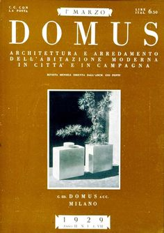 A front cover of DOMUS magazine founded by Gio Ponti in 1928