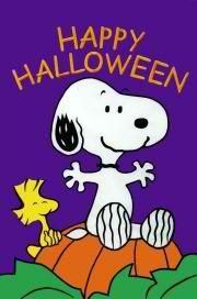 """LARGE PEANUTS SNOOPY & WOODSTOCK """"HAPPY HALLOWEEN"""" APPLIQUE HOUSE FLAG 28""""X 40"""", NEW"""