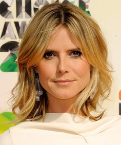 Heidi Klum – Casual Medium Straight Hairstyle | The Celebrity Hairstyles – For Women Haircuts