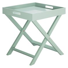 Check and reserve Habitat Oken Sage Green Square Tray Table at Argos.ie, your one stop shop for Outdoor Furniture Chairs, Garden Table And Chairs, Outdoor Tables, Outdoor Decor, Small Occasional Table, Small Tables, Grey Side Table, Small Living Room Chairs, Square Tray