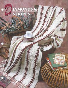 Annie/'s crochet pattern Checks /& Flourishes Afghan