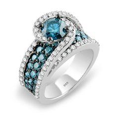 Sandra Biachi Caribbean Blue diamond ring with blue & white diamonds and blue center stone diamond at Unicorn Jewelry & Watch Boutique in San Diego, California, United States. I Love Jewelry, Stone Jewelry, Diamond Jewelry, Jewelry Rings, Jewelry Accessories, Jewelry Design, Jewlery, Jewelry 2014, Bling Bling