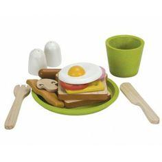 Plantoys ontbijt menu. Lekker stevig ontbijt met verschillende onderdelen.