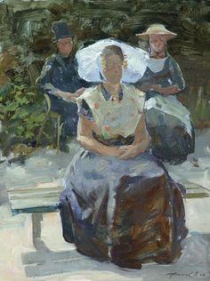 women and man art Natalia Dik - Kunstenaars 2009 - Schildersweek #Zeeland #Arnemuiden