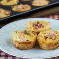 "These ""nests"" taste like spaghetti carbonara without all the extra fat.  They make for a perfect snack, appetizer, or a side dish.  Very easy to make and are extremely satisfying and is sure to be a crowd-pleaser.  Bake these today and take them to any social events such as baby or bridal showers."
