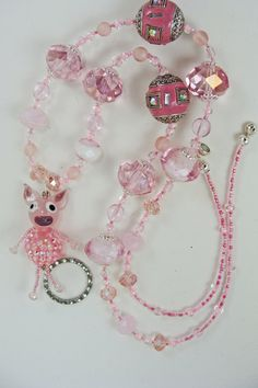 Miss Piggy Lanyard by BetsysBeadworks on Etsy, $20.00