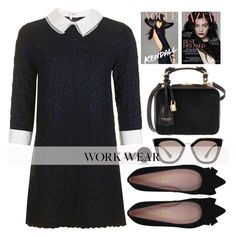 """""""Work In Style"""" by alaria ❤ liked on Polyvore featuring Pretty Ballerinas, Henri Bendel, Prada, Bobbi Brown Cosmetics and WorkWear"""