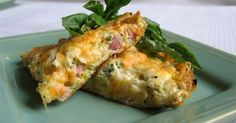 Ham and Cheese Frittata that's great for a Sunday Brunch.