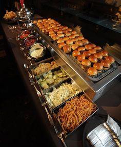 slider buffet - yum! Glorious buffet!