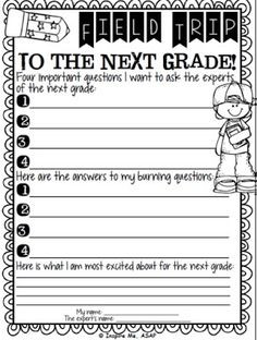 Take a field trip to the next grade -love this idea!!