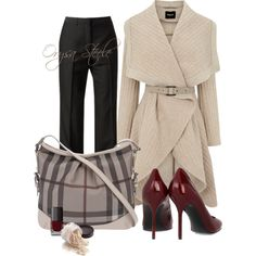 "La couleur des chaussures et ce manteau !!! ""Beige and Burberry"" by orysa on Polyvore"