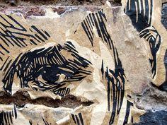 street art & graffiti London - Swoon ( detail ) by _Kriebel_, via Flickr