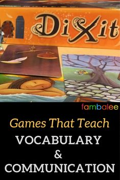 Play these board games with the family to promote vocabulary and communication. Fun Board Games, Fun Games, Educational Board Games, Finding A New Hobby, Time Management Strategies, Ela Classroom, Abstract Words, Building For Kids, Word Games