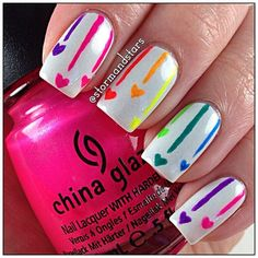 Nail art designs www. neon Nails - Nail art designs www.finditforwedd… neon Nails The Effective Pictures We Offer You About fashion - Neon Nails, Love Nails, Diy Nails, Pretty Nails, Color Nails, Polka Dot Nails, Polka Dots, Nail Art Motif, Rainbow Nail Art