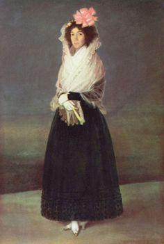 Portret van Marìa Rita de Barrenecha y Morant, markiezin van La Solana ~ 1794-1795 ~ Olieverf op doek ~ 181 x 122 cm. ~ Musée du Louvre, Parijs
