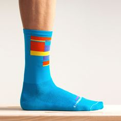 OrNot Cycling socks. They work for wor too! Radical Blue 2.0 (Large)