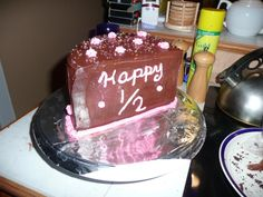 1/2 birthday cake... great for Christmas birthdays...a little celebration away from the hubbub of the holiday