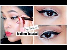 Winged Eyeliner Tutorial For Beginners - Eyeliner For Hooded Eyes MissLizHeart - YouTube