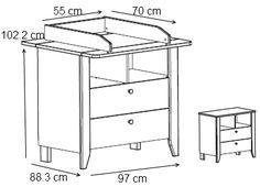dimensions table à langer