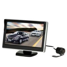 5 Inch TFT LCD Display Car Monitor Car Rear View Reverse Camera Backup Reverse System + HD Parking Camera