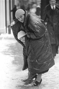 Norma Kamali sleeping bag coat, photo by Dustin Pittman