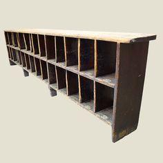 vintage wooden shoe storage rack