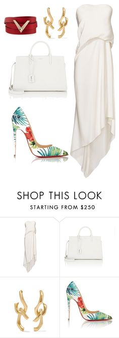 """""""style theory by Helia"""" by heliaamado on Polyvore featuring moda, Cédric Charlier, Yves Saint Laurent, Annelise Michelson, Christian Louboutin e Valentino"""