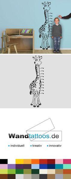 Nice Wandtattoo Messlatte Giraffe als Idee zur individuellen Wandgestaltung Einfach Lieblingsfarbe und Gr e ausw hlen Weitere