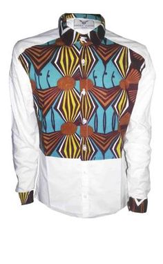 Shirts for men loincloth by Ohema Ohene African Inspired Fashion, African Men Fashion, Africa Fashion, Mens Fashion, Fashion Menswear, African Attire, African Wear, African Style, African Print Shirt