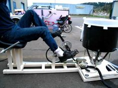 Human powered washing machine. - YouTube Spin cycle and rinse possible without getting up.