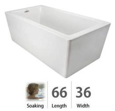 """View the Jacuzzi BIF6636BUXXXXW Bianca 66"""" Soaking Freestanding Bathtub with Seamless Luxetech™ Finishing at Build.com."""