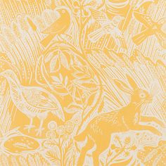 Harvest Hare Wallpaper by St Judes