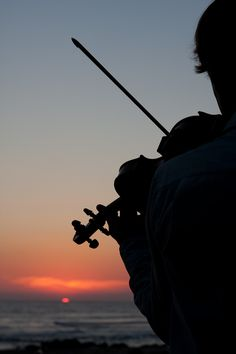 Violin at Sunset in Mexico