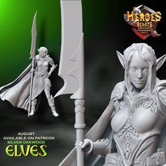 one more elf for august rewards . wonder how she will look standing in the tree house...   #dungeonsanddragons #rpg #d20 #roleplay #nerd #geek #dice #dnd5e #roleplayinggame #tabletopgames #dungeonmaster #gaming #tabletopgaming #fantasy #wargames #gamesworkshop #warhammer #warhammer40k #miniature #coolminis #minipainting #miniatures #dnd #patreon #art #supportlivingartists #dnd #minianturednd # dndminis #3dprint #zbrush Tabletop Rpg, Tabletop Games, Dungeons And Dragons Characters, Because I Love You, D 20, Mini S, Mini Paintings, In The Tree