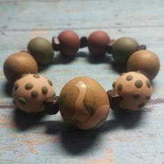 Polymer clay stretchy bracelet